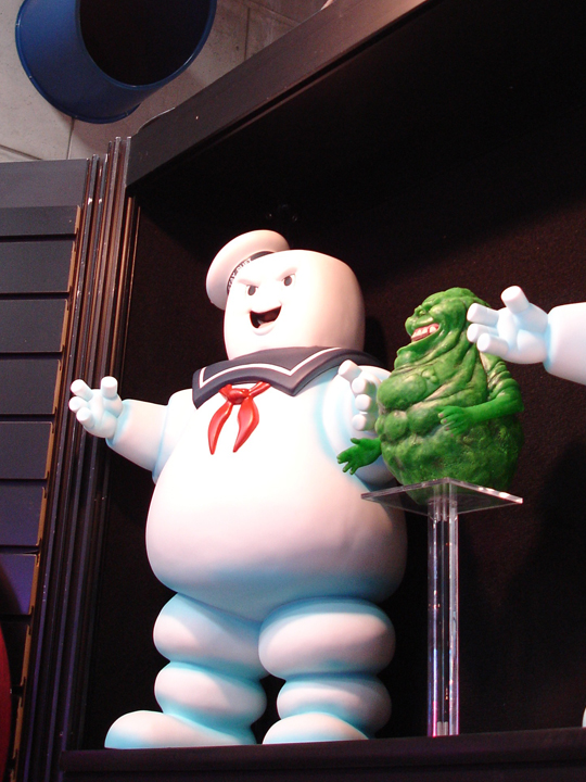 Angry Stay Puft Marshmallow Man and Slimer