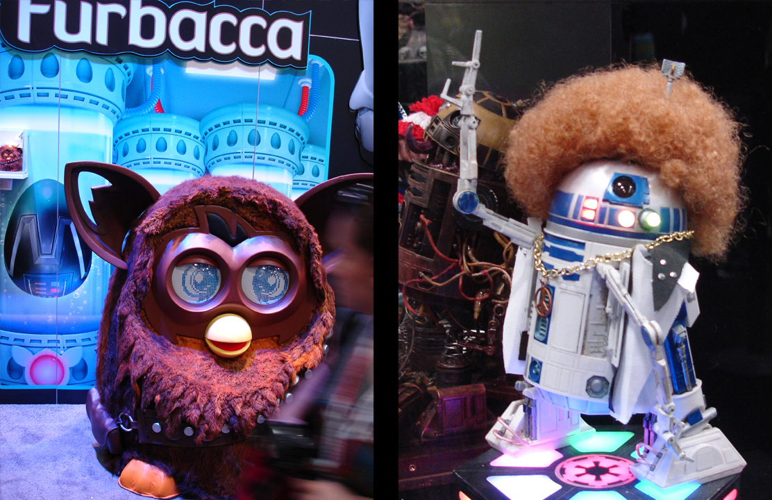 Furbacca and disco R2D2