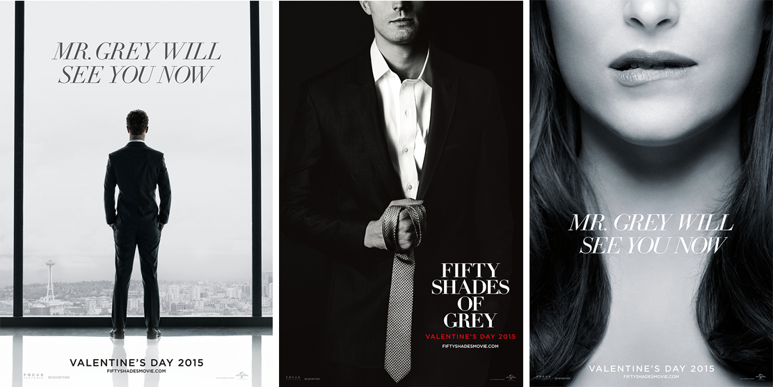 all 3 Fifty Shades posters