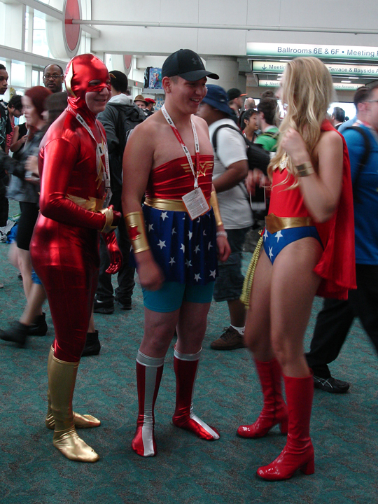 The Flash and Wonderwoman