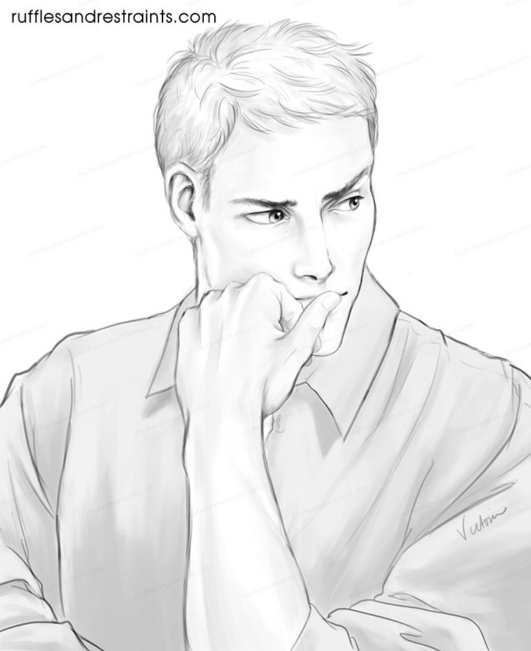 pensive or plotting