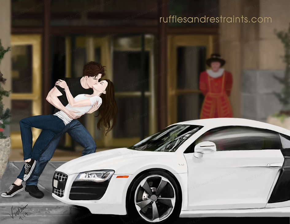Portland PDA Ruffles Restraints - Audi car 50 shades freed