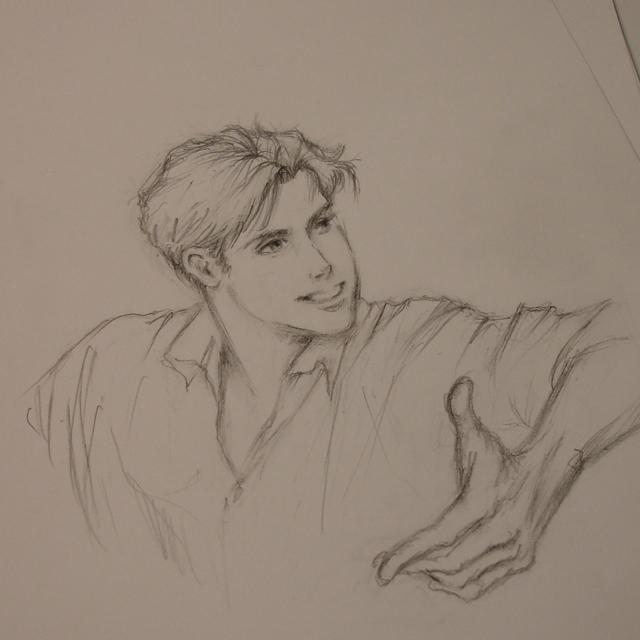 male gesture sketch