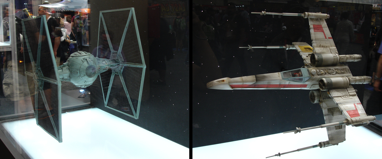 tie fighter and x-wing