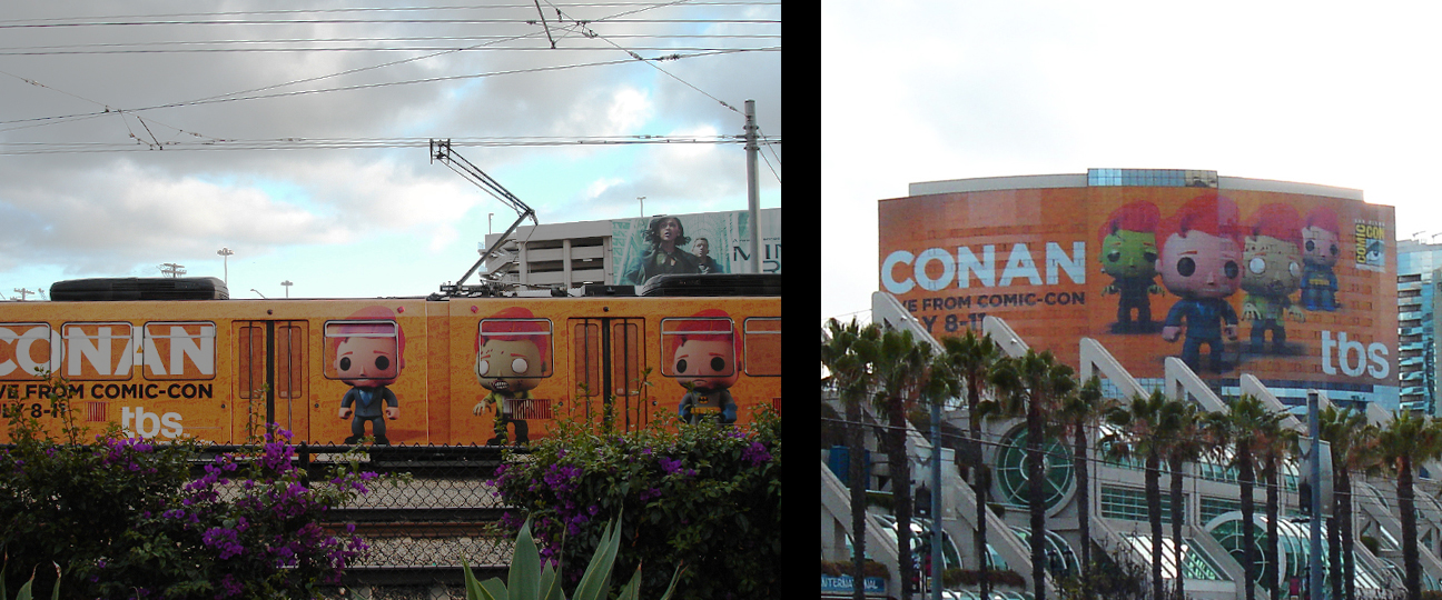Conan trolley and hotel wraps